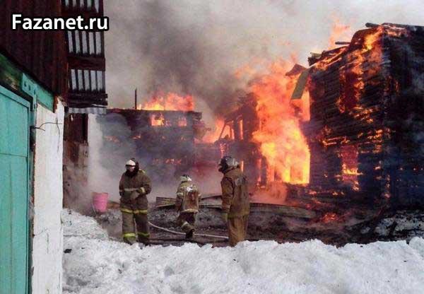 Сгорел дом из-за короткого замыкания
