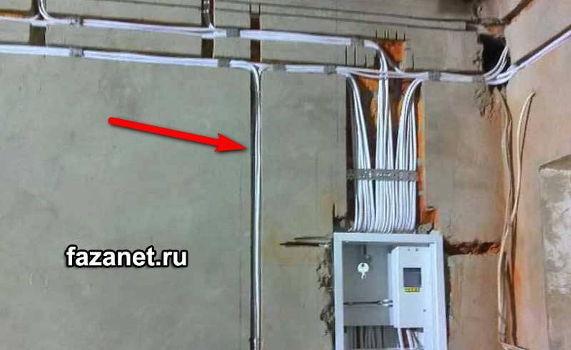 проводка вштробе без гофры